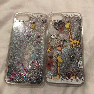 Accessories - iPhone 6 and 7 Cases w/ Glitter